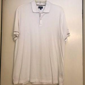 Rare Burberry Golf White Polo Shirt check trim Med